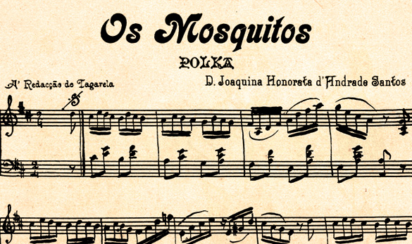 Sheet music of 'Os mosquitos' song